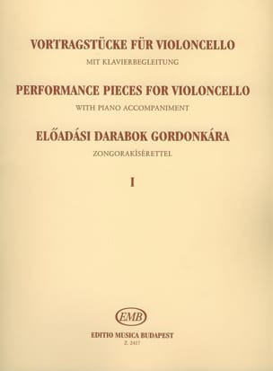Emöke Csath - Performance pieces for violoncello, Volume 1 - Partition - di-arezzo.fr