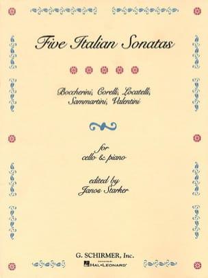 Janos Starker - 5 Italian Sonatas - Partition - di-arezzo.fr