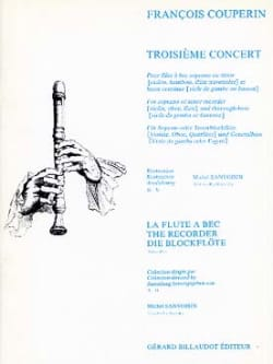 François Couperin - Third Concert - Recorder and bc - Sheet Music - di-arezzo.co.uk