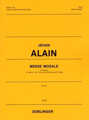 Jehan Alain - Messe modale en septuor - Partitur - Partition - di-arezzo.fr