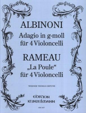 Albinoni Tomaso / Rameau Jean-Philippe - Adagio en Sol Mineur / La Poule - Partition - di-arezzo.fr