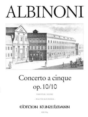 Concerto a cinque op. 10/10 – Conducteur - laflutedepan.com