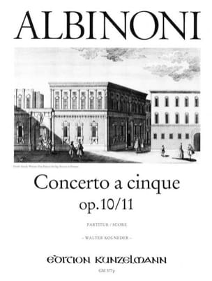 Tomaso Albinoni - Concerto a cinque op. 10/11 - Conducteur - Partition - di-arezzo.fr