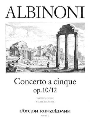 Concerto a cinque op.10/12 – Conducteur - laflutedepan.com