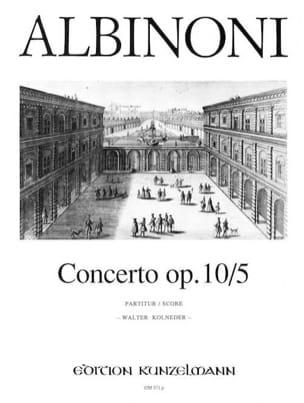 Tomaso Albinoni - Concerto op. 10/5 - Conducteur - Partition - di-arezzo.fr