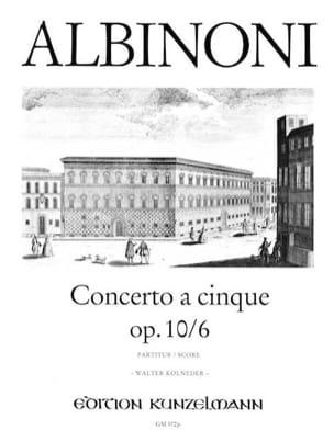 Tomaso Albinoni - Concerto a cinque op. 10/6 - Sheet Music - di-arezzo.com