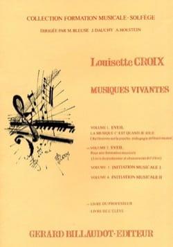 Louisette Croix - Musiques Vivantes - Volume 2 - Professeur - Partition - di-arezzo.fr