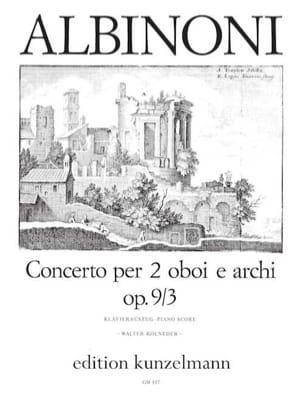 Concerto per 2 oboi op. 9 n° 3 -2 Oboen Klavier laflutedepan