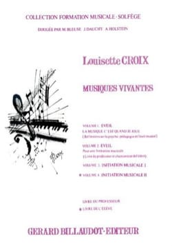 Louisette Croix - Musiques vivantes – Volume 4 - Elève - Partition - di-arezzo.fr