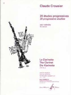 20 Etudes progressives - Claude Crousier - laflutedepan.com
