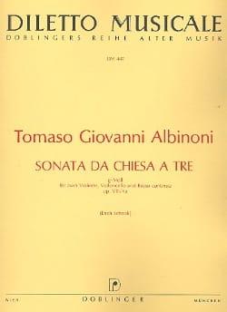 Tomaso Albinoni - Sonata da chiesa a tre g-moll op. 8 n° 4a –Stimmen - Partition - di-arezzo.fr
