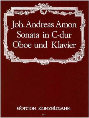 Sonata in C Dur - Oboe Klavier Johann Andreas Amon laflutedepan