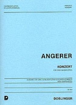 Konzert – 2 Altblockflöten Klavier - Paul Angerer - laflutedepan.com