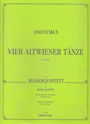 - 4 Altwiener Tänze - Bläserquintett - Partitur Stimmen - Sheet Music - di-arezzo.co.uk