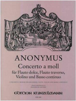 Anonymus - Concerto a-moll – Flauto dolce, flauto trav., violino Bc - Partition - di-arezzo.fr