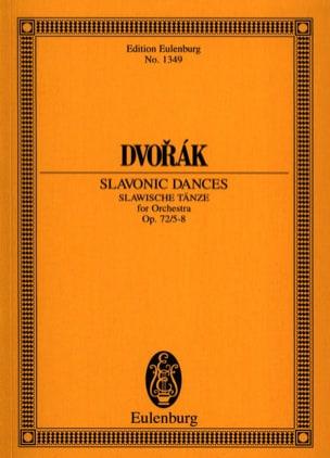 DVORAK - Slawische Tänze, op. 72/5-8 B 147 - Partition - di-arezzo.fr