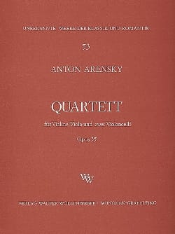 Anton Stepanovitch Arensky - Quartett a-moll op. 35 - Violine, Viola, 2 Violoncelli - Sheet Music - di-arezzo.co.uk
