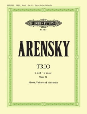 Anton Stepanovitch Arensky - Trio d-moll op. 32 - parts - Sheet Music - di-arezzo.co.uk