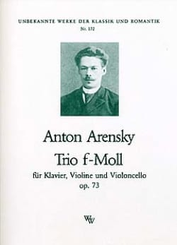 Anton Stepanovitch Arensky - Trio f-moll op. 73 - Stimmen - Sheet Music - di-arezzo.co.uk