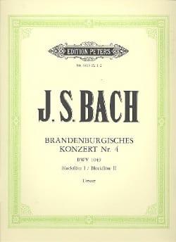 Johann Sebastian Bach - Brandenburgisches Konzert Nr. 4 – Conducteur - Partition - di-arezzo.fr