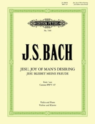 Jesu, Joy of Man's Desiring BACH Partition Violon - laflutedepan