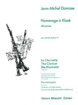 Jean-Michel Damase - Hommage à Klosé - Partition - di-arezzo.fr