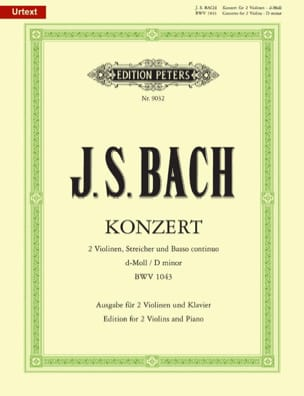BACH - Konzert BWV 1043 - 2 Violinen Klavier - Sheet Music - di-arezzo.co.uk