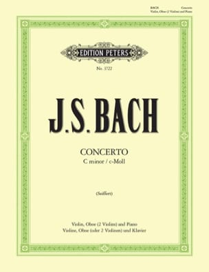 BACH - Concerto c-moll BWV 1060 - Violin Oboe Klavier - Sheet Music - di-arezzo.co.uk