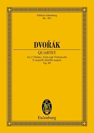 Antonin Dvorak - Streich-Quartett E-Dur, Op. 80 - Partition - di-arezzo.fr