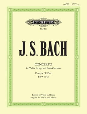 BACH - Concerto E major BWV 1042 - Violin - Sheet Music - di-arezzo.co.uk