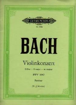 BACH - Konzert E-Dur BWV 1042 - Violine - Conducteur - Partition - di-arezzo.fr