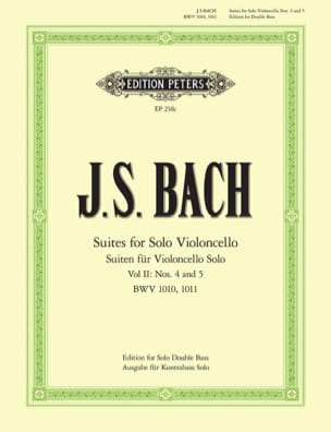 BACH - 6 Suites Volume 2 - Double bass - Sheet Music - di-arezzo.com