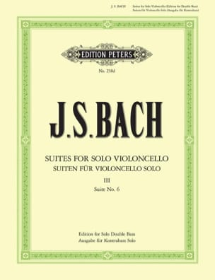 BACH - Suite N ° 6 for Cello Only transcribed for Double Bass - Sheet Music - di-arezzo.com