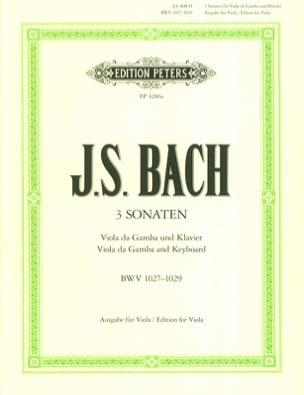 BACH - 3 Sonatas - Sheet Music - di-arezzo.com