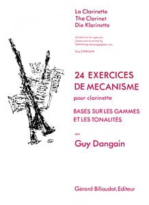 Guy Dangain - 24 Exercices de mécanisme - Partition - di-arezzo.fr