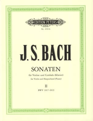Sonaten BWV 1017-1019 - BACH - Partition - Violon - laflutedepan.com