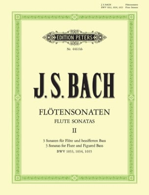 BACH - Sonatas for Flute Vol. 2 - BWV 1033, 1034, 1035 - Partition - di-arezzo.co.uk