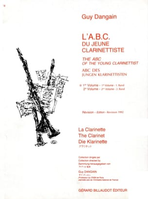 Guy Dangain - L'A.B.C. du jeune Clarinettiste – Volume 1 - Noten - di-arezzo.de