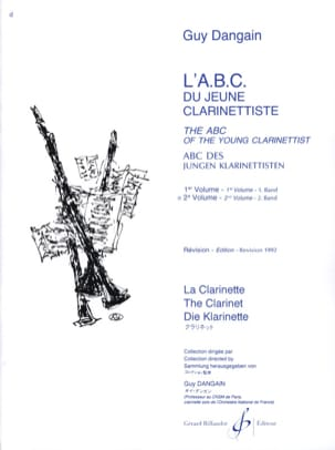 Guy Dangain - L'A.B.C. du jeune Clarinettiste - Volume 2 - Partition - di-arezzo.fr
