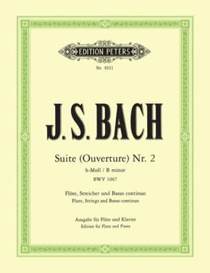 BACH - Suite Opening Nr. 2 h-moll BWV 1067 - Klavier Flute - Sheet Music - di-arezzo.co.uk