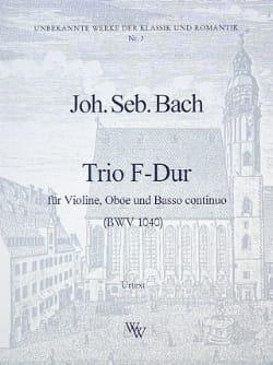 Trio F-Dur BWV 1040 -Violine Oboe Bc - BACH - laflutedepan.com
