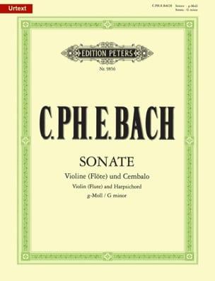 Carl Philipp Emanuel Bach - Sonate G-Moll für Violine Flöte) und obligates Cembalo - Partition - di-arezzo.fr