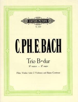 Trio en sib maj. Wq 161 - Flöte Violine Bc laflutedepan