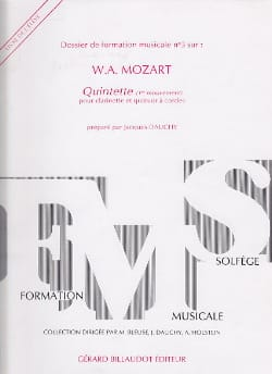 Jacques Dauchy - Dossier de FM n° 3 - Elève - Mozart : Quintette - Partition - di-arezzo.fr