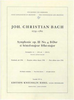 Johann Christian Bach - Sinfonia B op.3 / 4 - Sheet Music - di-arezzo.com