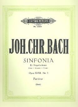 Johann Christian Bach - Sinfonia N° 3 Ré Majeur, Op. 18 N° 3 - Partition - di-arezzo.fr