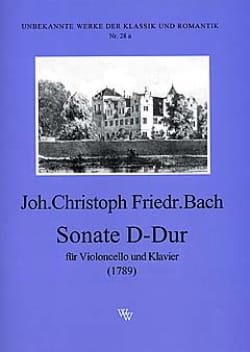 Sonate D-Dur Johann Christoph Friedrich Bach Partition laflutedepan