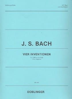 BACH - 4 Inventions - Violon et Alto - Partition - di-arezzo.fr