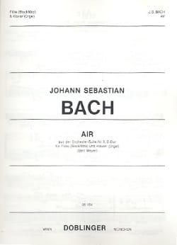 BACH - Air From Suite # 3 In D Maj. - Sheet Music - di-arezzo.com