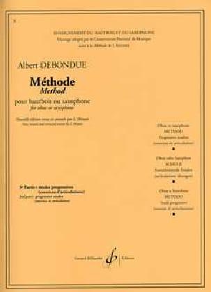 Albert Debondue - Méthode de Hautbois ou saxo – Volume 3 - Partition - di-arezzo.ch